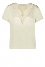 Aaiko |  Top with lace Veerly | white
