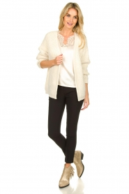 Aaiko |  Knitted cardigan Artessa | white  | Picture 3