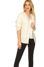 Aaiko |  Knitted cardigan Artessa | white  | Picture 2