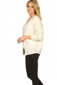 Aaiko |  Knitted cardigan Artessa | white  | Picture 4