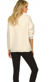 Aaiko |  Knitted cardigan Artessa | white  | Picture 5