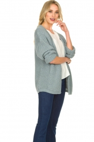 Aaiko |  Knitted cardigan Artessa | blue  | Picture 4