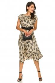 Aaiko |  Printed midi skirt Giuele | grey  | Picture 3