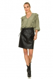 Aaiko |  Faux leather skirt Patia | black   | Picture 3