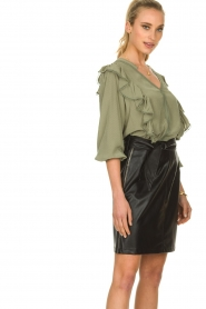 Aaiko |  Faux leather skirt Patia | black   | Picture 4