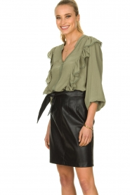 Aaiko |  Faux leather skirt Patia | black   | Picture 2