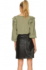 Aaiko |  Faux leather skirt Patia | black   | Picture 5