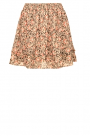 Aaiko |  Floral printed skirt Sheli | beige  | Picture 1