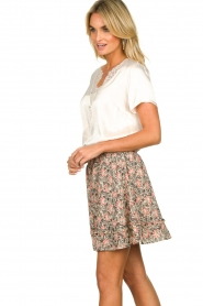 Aaiko |  Floral printed skirt Sheli | beige  | Picture 5