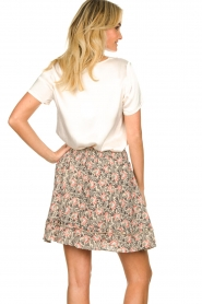 Aaiko |  Floral printed skirt Sheli | beige  | Picture 6