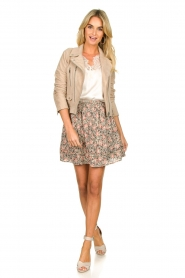 Aaiko |  Floral printed skirt Sheli | beige  | Picture 3