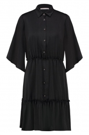 Aaiko |  Wide midi dress Sarian | black  | Picture 1