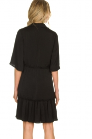 Aaiko |  Wide midi dress Sarian | black  | Picture 5