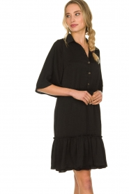 Aaiko |  Wide midi dress Sarian | black  | Picture 4