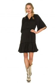 Aaiko |  Wide midi dress Sarian | black  | Picture 3