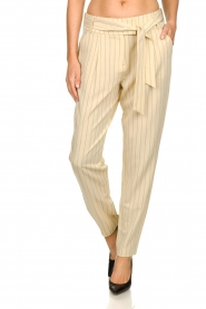 Aaiko |  Pinstripe trousers Wyatt | natural  | Picture 4