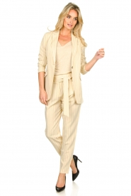 Aaiko |  Pinstripe trousers Wyatt | natural  | Picture 3