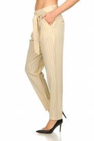 Aaiko |  Pinstripe trousers Wyatt | natural  | Picture 5