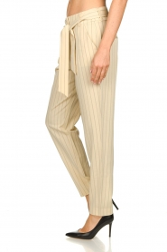 Aaiko |  Pinstripe trousers Wyatt | natural  | Picture 6