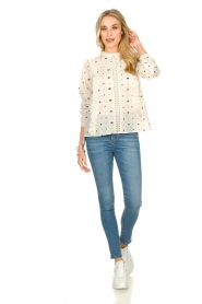 Aaiko |  Embroidered blouse Verana | natural  | Picture 3
