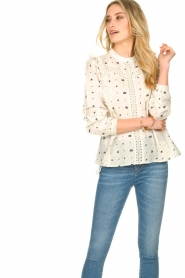 Aaiko |  Embroidered blouse Verana | natural  | Picture 4