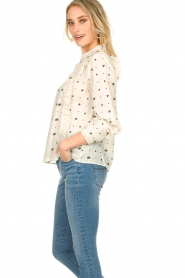 Aaiko |  Embroidered blouse Verana | natural  | Picture 5