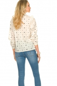 Aaiko |  Embroidered blouse Verana | natural  | Picture 6