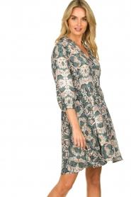 Aaiko |  Snake printed dress Terri | green  | Picture 4