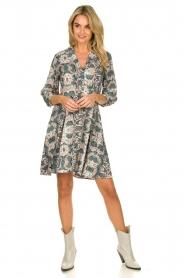 Aaiko |  Snake printed dress Terri | green  | Picture 3