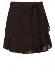 Aaiko |  Wrap skirt with ruffles Salienta | black  | Picture 1