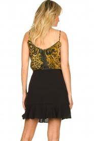 Aaiko |  Wrap skirt with ruffles Salienta | black  | Picture 5