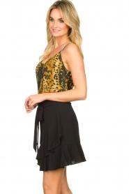 Aaiko |  Wrap skirt with ruffles Salienta | black  | Picture 4