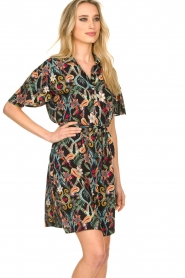 Aaiko |  Floral dress Varsha | black  | Picture 5