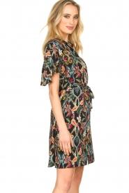 Aaiko |  Floral dress Varsha | black  | Picture 6