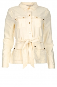 Aaiko |  Belted jacket Wamas | natural  | Picture 1