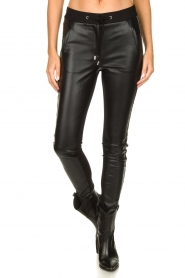 Aaiko |  Faux leather studded pants Sosa | black  | Picture 4