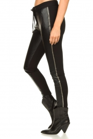 Aaiko |  Faux leather studded pants Sosa | black  | Picture 5