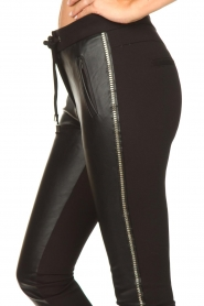Aaiko |  Faux leather studded pants Sosa | black  | Picture 7