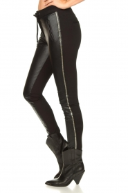 Aaiko |  Faux leather studded pants Sosa | black  | Picture 6