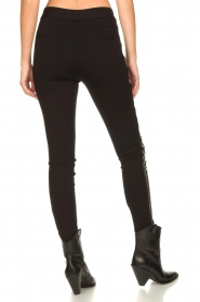 Aaiko |  Faux leather studded pants Sosa | black  | Picture 8