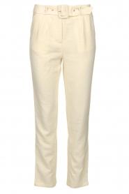 Aaiko |  Pants with belt | naturel  | Picture 1