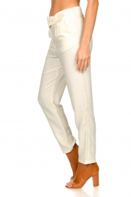 Aaiko |  Pants with belt | naturel  | Picture 5