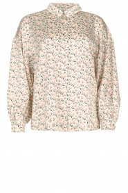 Aaiko |  Floral printed blouse Seven | white  | Picture 1