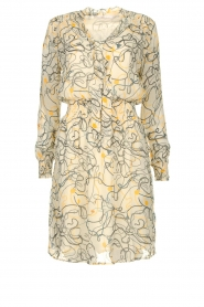 Aaiko |  Printed dress Saske | naturel  | Picture 1