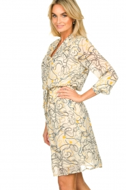 Aaiko |  Printed dress Saske | naturel  | Picture 5