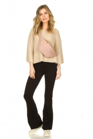 Aaiko |  Sweater with wide sleeves Thalia | beige  | Picture 3