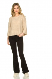 Aaiko |  Sweater with wide sleeves Thalia | beige  | Picture 6