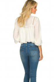 Aaiko |  Embroidered top Amira | white  | Picture 7