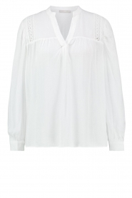 Aaiko |  Embroidered top Amira | white  | Picture 1