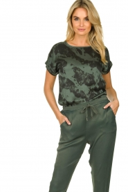 Aaiko |  Tie dye top Merle | green  | Picture 4